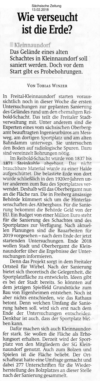 Sächsische Zeitung 13.02.2018 Wie verseucht ist die Erde