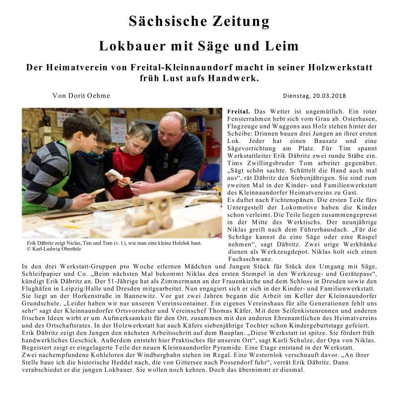SZ 20.03.2018 Lokauer mit Holz und Leim