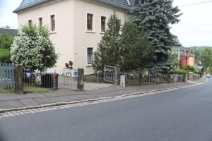 Viele Häuser sind geschmückt