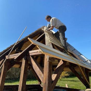 Die Dachkonstruktion musste völlig neu aufgebaut werden
